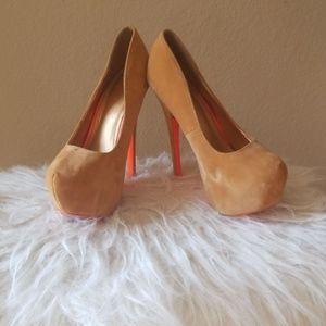 Shiekh tan pumps